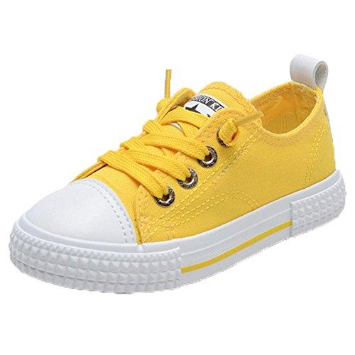 Ohmais Kinder Mädchen Kind-Mädchen-Jungen-Sportschuh Freizeitschuh Gelb
