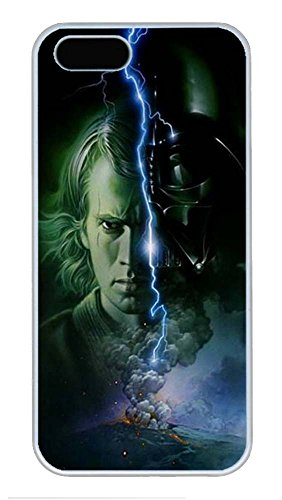 [iPhone 5 Case 5S Case,Custom Design Star Wars Anakin Skywalker Darth Vader Hard Plastic PC White Case Personalized Bumper Cover for iPhone] (Princess Leia White Robe)