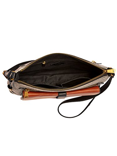 Fossil Damen Hand Tasche Kinley Crossbody Schultertasche Modische Umhänge Taschen ZB7227-080 Schwarz