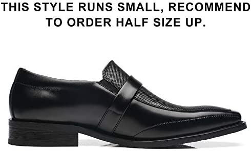 Mens Slip On Buckle Loafer Moc Toe Oxford Shoes Comfortable Classic Formal Business Shoes