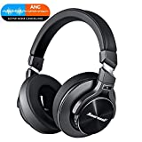 Active Noise Cancelling Bluetooth Headphones with Microphone L2 Hi-Fi Deep Bass Wireless Headphones Over Ear, Comfortable Protein Earpads, 21 Hours Playtime for Travel Work TV Computer, Black