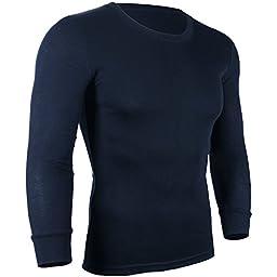 D&P Men\'s Cotton Thermal Top & Bottom Underwear Set XS-XL (M, Royal Blue)