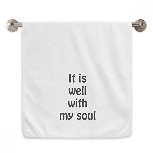 DIYthinker It Is Well With My Soul Christian Quotes Circlet White Towels Soft Towel Washcloth 13x29 Inch by DIYthinker