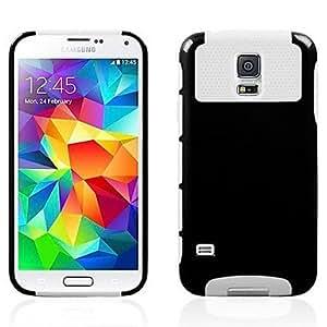GX Teléfono Móvil Samsung - Cobertor Posterior - Diseño Especial - para Samsung S5 i9600 ( Multi-color/Negro/Rojo/Verde/Azul , Plástico/Silicona ) , White-Red