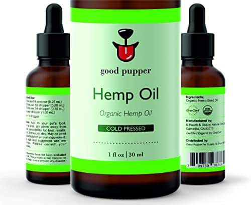 Good Pupper Hemp Oil for Dogs with Anxiety, Industry Certified and 100% Organic - Calming Remedy, Pain Relief for Dogs, Nervous Dog (250 mg)