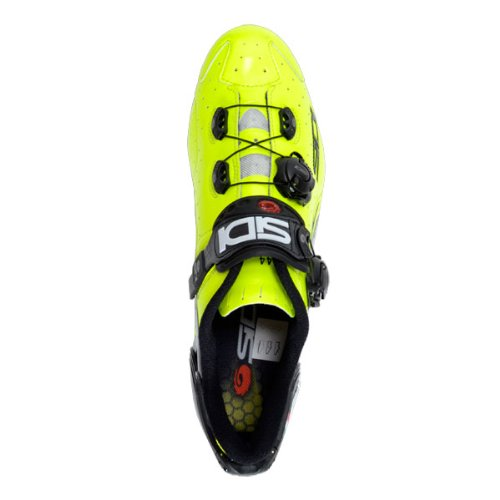 Sidi Wire Vent Carbon Shoe (43, Yellow Fluorescent Black Vernice) (Sidi Wire Carbon Air Vernice Road Shoes 2015)