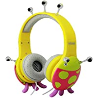 VCOM DE802-Pink & Yellow Monster Series Children Headphone, Pink/Yellow
