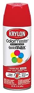 Krylon 52108 Paint Enamel, 12 oz, Banner Red