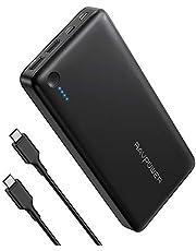 "RAVPower 26800mAh Powerbank USB C Power Delivery Externer Akku (30W PD) für iPhone XS Max/XR / 8 / X, iPad, Nintendo Switch, MacBook 12"" und weitere"