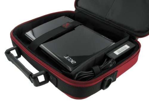Packard Bell 11.6-Inch Dot M Netbook Carrying Bag Case (Classic Series - Red / Black)
