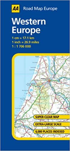 Western Europe Aa Road Map Europe Series 9780749543952 Amazon
