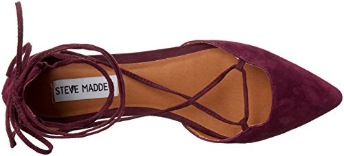 Steve Madden Mujeres de sol Pointed Toe plana burdeos