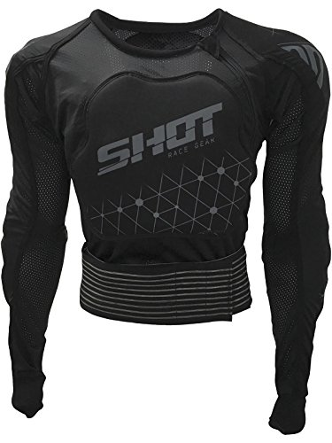 Shot Kid Black-Grey 2019 Airlight Evo Enduro Kids Mx Protection Jacket (Kids S, Black) ()