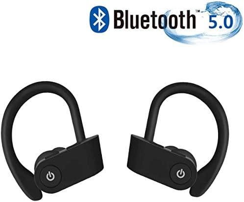 True Wireless Earbuds Bluetooth Headphones Bluetooth 5.0 TWS Earphones IPX4 Waterproof Lightweigh Headset Long Playtime with Mic HD Sound with Deep Bass for Sport