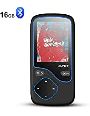 AGPTEK 16GB MP3 Player with Bluetooth 4.0, Portable Lossless Music Player Supports FM Radio Voice Recording, Expandable up to 128GB, Black(C5M)