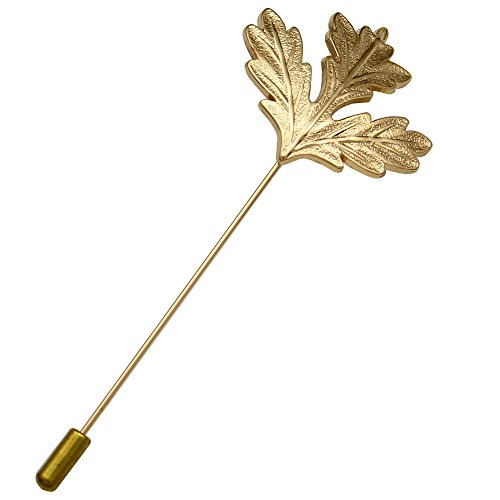 Gold Plated Q&Q Fashion Men Canada Maple Leaf Suit Lapel Stick Pin Tie Hat Scarf Brooch Badge Art (Gold Hat Pin)