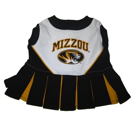 Missouri Tigers Dog Cheer Leading Dress & Leash Set Size XS