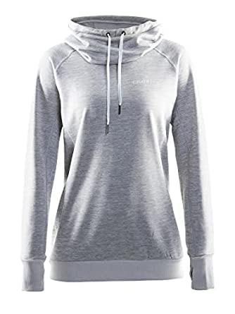 Craft Sportswear Womens Pure Loose Fit Funnel Neck Casual Hoodie with Thumbholes