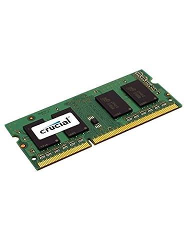 Crucial 4GB Single DDR3L 1600 MT/s (PC3-12800) SODIMM 204-Pin Memory - CT51264BF160B