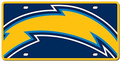 Stockdale Technologies San Diego Chargers License Plate - Acrylic Mega Style Discount Charger Plates