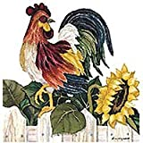 Rooster - Peel & Stick - 14 Kitchen Wall Stickers/Decal Appliques