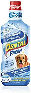 product image for Dental Fresh Advanced Whitening for Dogs, 8 oz. – Reduce Surface Stains and Reverse Discoloration - Add to Water to Whiten Teeth, Eliminate Bad Breath, Improve Oral Health