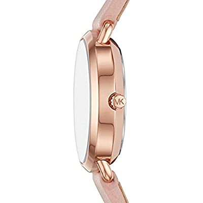 Michael Kors Watches Womens Rose Gold-Tone and Blush Leather Portia Watch