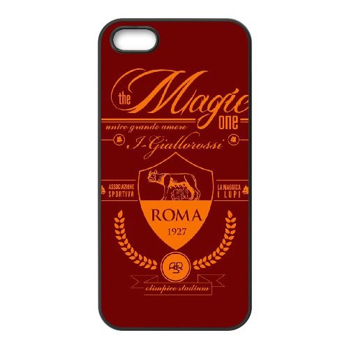 As Roma Logo coque iPhone 5 5S Housse téléphone Noir de couverture de cas coque EBDOBCKCO17581