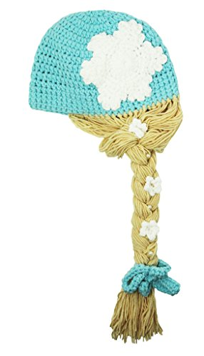 Braid Beanie (Frozen Princess Crochet Hat with Braid-Large)