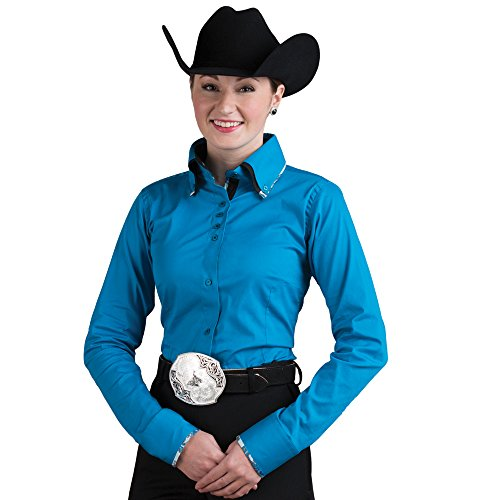 2-Tone Double Collar Turquoise Show Top