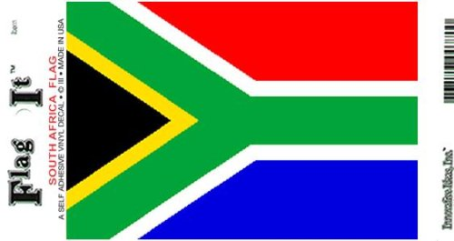 South Africa Heavy Duty Vinyl Bumper Sticker (3 x 5 (Africa Bumper)