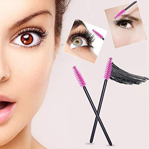 100 disposable Eyelash Mascara Brushes Wands Applicator Eyebrow Brush,Eyelash Extension Supplies(Pink)