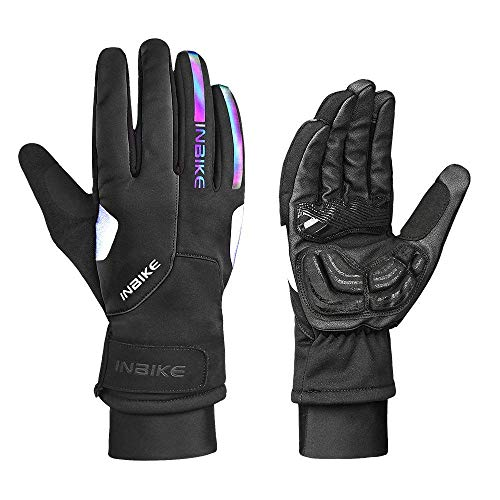 INBIKE Winter Gloves for Man 3M Thinsulate Gloves Touchscreen Warm Gloves for Cold Weather (Black, XL)