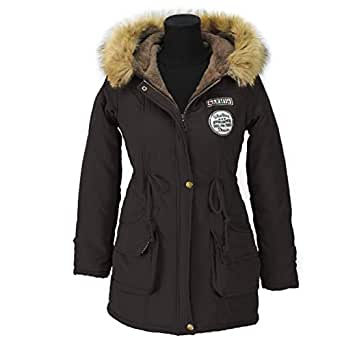 Amazon.com: Sanmei Womens Fashion Parkas Winter Jackets