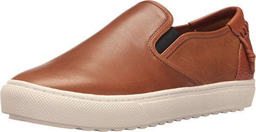 COACH Men's C115 Leather Slip-On Sneaker Saddle Loafer - Mens Coach Sneakers