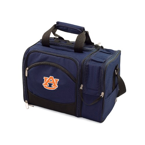 NCAA Auburn Tigers Malibu Picnic Tote with Deluxe Picnic Service for Two by PICNIC TIME