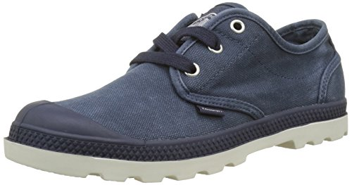 Palladium Pampa Oxford Lp, Zapatillas para Mujer Azul (Parisian Night/silver Birch)