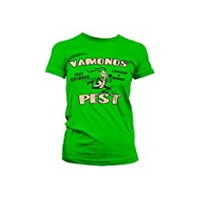 Breaking Bad T Shirt Vamanos Pest new Official Womens Skinny Fit Green