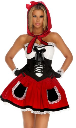 Forplay Women's Red Hot Riding Hood Costume