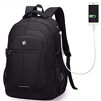 DUBAOBAO Mochila para Computadora Portátil, Casual De Negocios con Mochila USB, Bolsa para Estudiantes