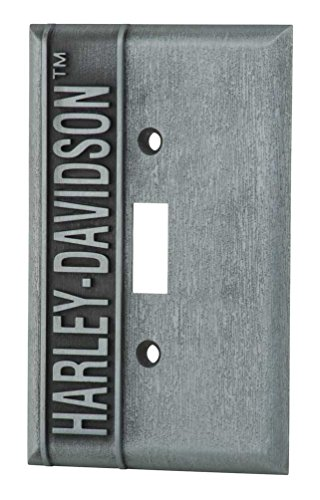 (Harley-Davidson Heavy-Duty H-D Single Switch Plate, Hardware Included)