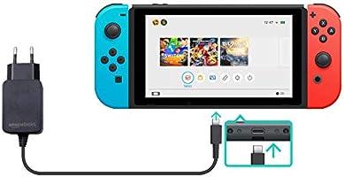 AmazonBasics - Cargador CA de un solo voltaje, para Nintendo Switch (no compatible con modo TV), negro: Amazon.es: Videojuegos