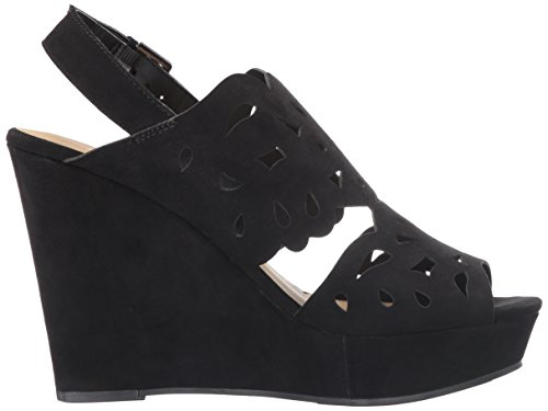 Women's in Suede Chinese Sandal Black Laundry Love Wedge f5PFwqR