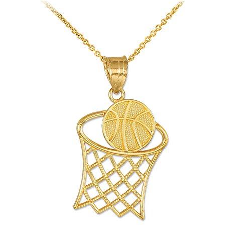10k Gold Basketball Charm - 5