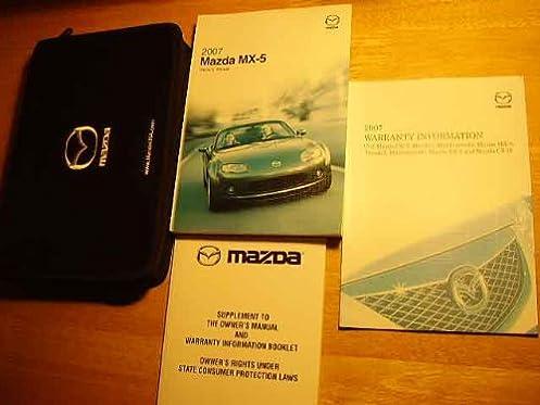 2007 mazda miata mx5 mx 5 owners manual mazda amazon com books rh amazon com 2007 miata service manual Manual Miata Interior