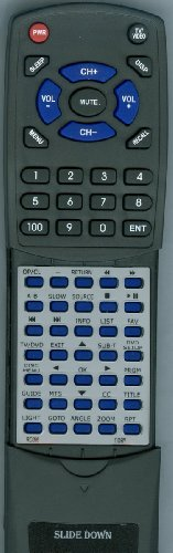 Replacement Remote Control for COBY TFDVD3299, TFDVD3295, LCDVD2250, TFDVD2695, RC056, RC-056