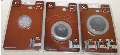 Kaufgut 121001 - Filtro de aluminio con 2 gomas de silicona para ...