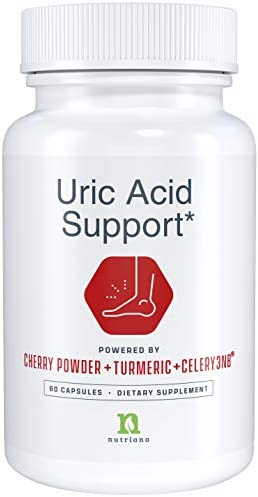 Uric Acid Cleanse Support Tart Cherry Capsules Tart Cherry Juice Extract 2500 mg with Turmeric and Celery Seed Extract for Joint and Kidney Support 60 Tart Cherry Concentrate Capsules