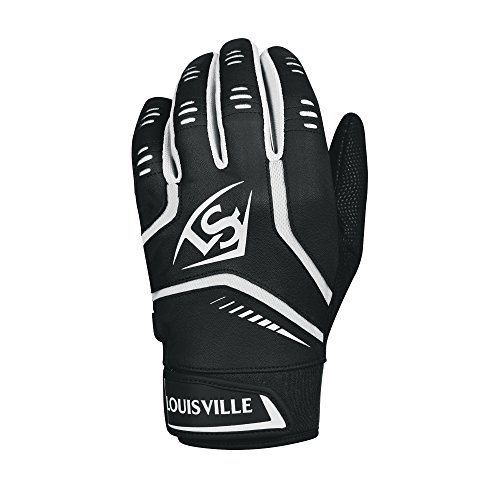 Louisville Slugger Omaha Youth Batting Gloves - Youth Large, Black -