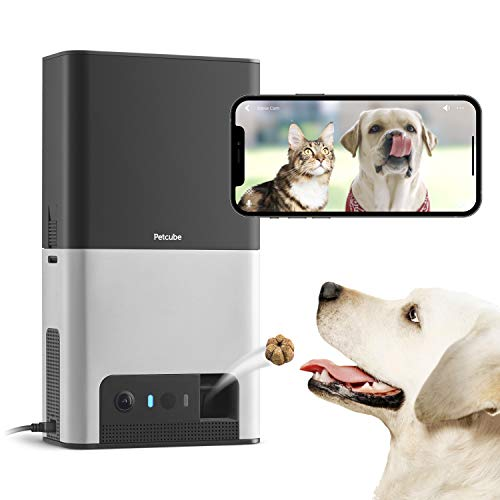 New-2020-Petcube-Bites-2-Wi-Fi-Pet-Camera-with-Treat-Dispenser-Alexa-Built-in-for-Dogs-and-Cats-1080p-HD-Video-160-Full-Room-View-2-Way-Audio-SoundMotion-Alerts-Night-Vision-Pet-Monitor